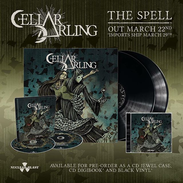 "Pre-order our concept album ""The Spell""  as a 2 CD-digibook (featuring 13 songs + an audiobook of Anna Murphy narrating the story behind the concept), CD (Jewel), black vinyl or digitally at http://nuclearblast.com/cellardarling-thespell *The Spell Track List*  1. Pain 2. Death 3. Love 4. The Spell 5. Burn 6. Hang 7. Sleep 8. Insomnia 9. Freeze 10. Fall 11. Drown 12. Love Pt. II 13. Death Pt. II"