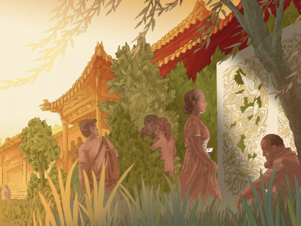Looking for Love (Again) in Beijing - Roads & Kingdoms | March 27, 2019In Beijing, a public park—hidden in plain view near the Forbidden City—is a prominent hub for seniors seeking new life partners. I met and talked with three of the park's seekers.Illustrations by Pin Chen.