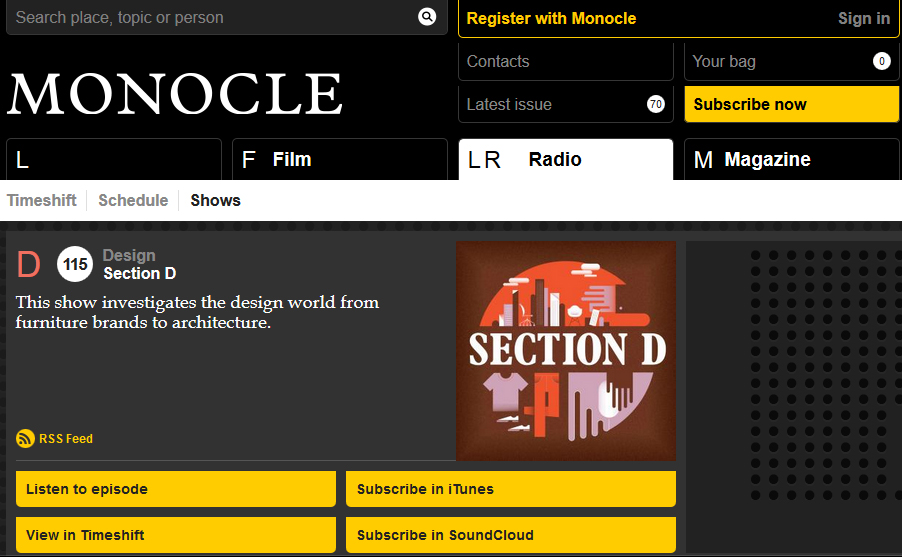 Listen - I was interviewed by David Plaisant for Monocle radio about Made in Italy: Rethinking a Century of Italian Design, broadcast 24th December, 2013