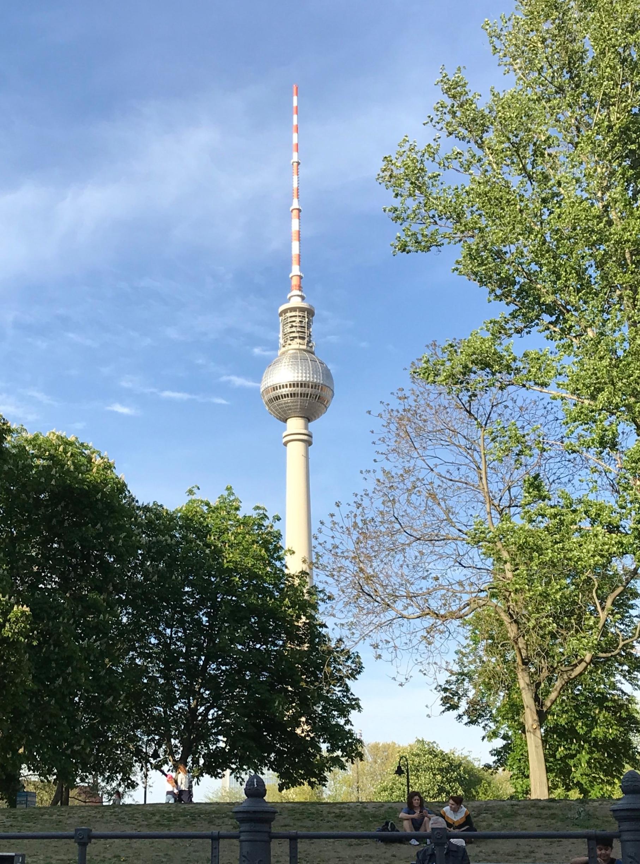 - Berlin Fernsehturm from the River Spree