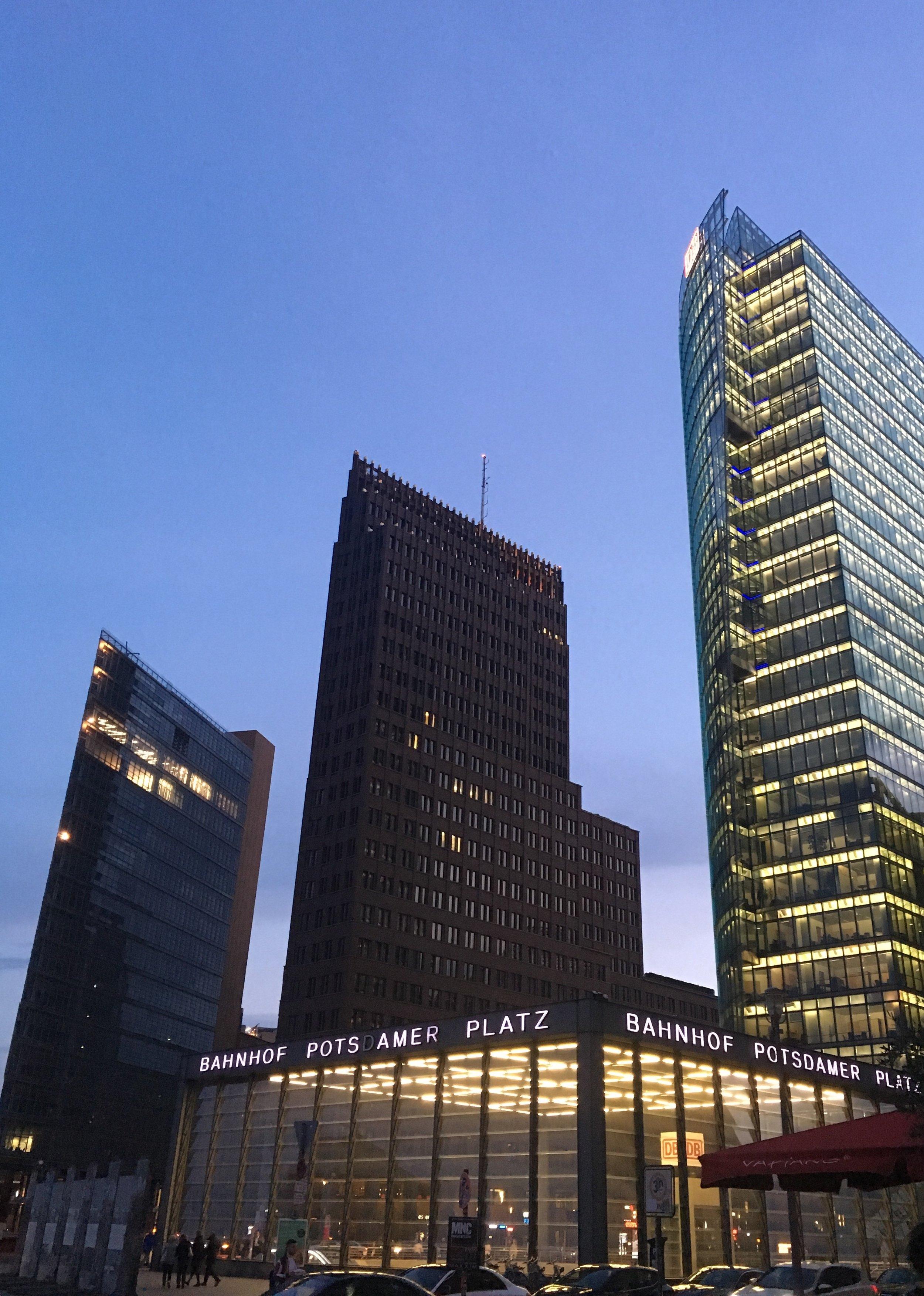 - Potsdamer Platz at dusk