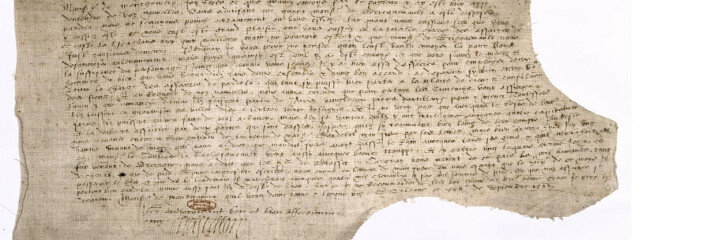 An example of the French 16th-century documents Prof Penny Roberts deciphers during her archival research.