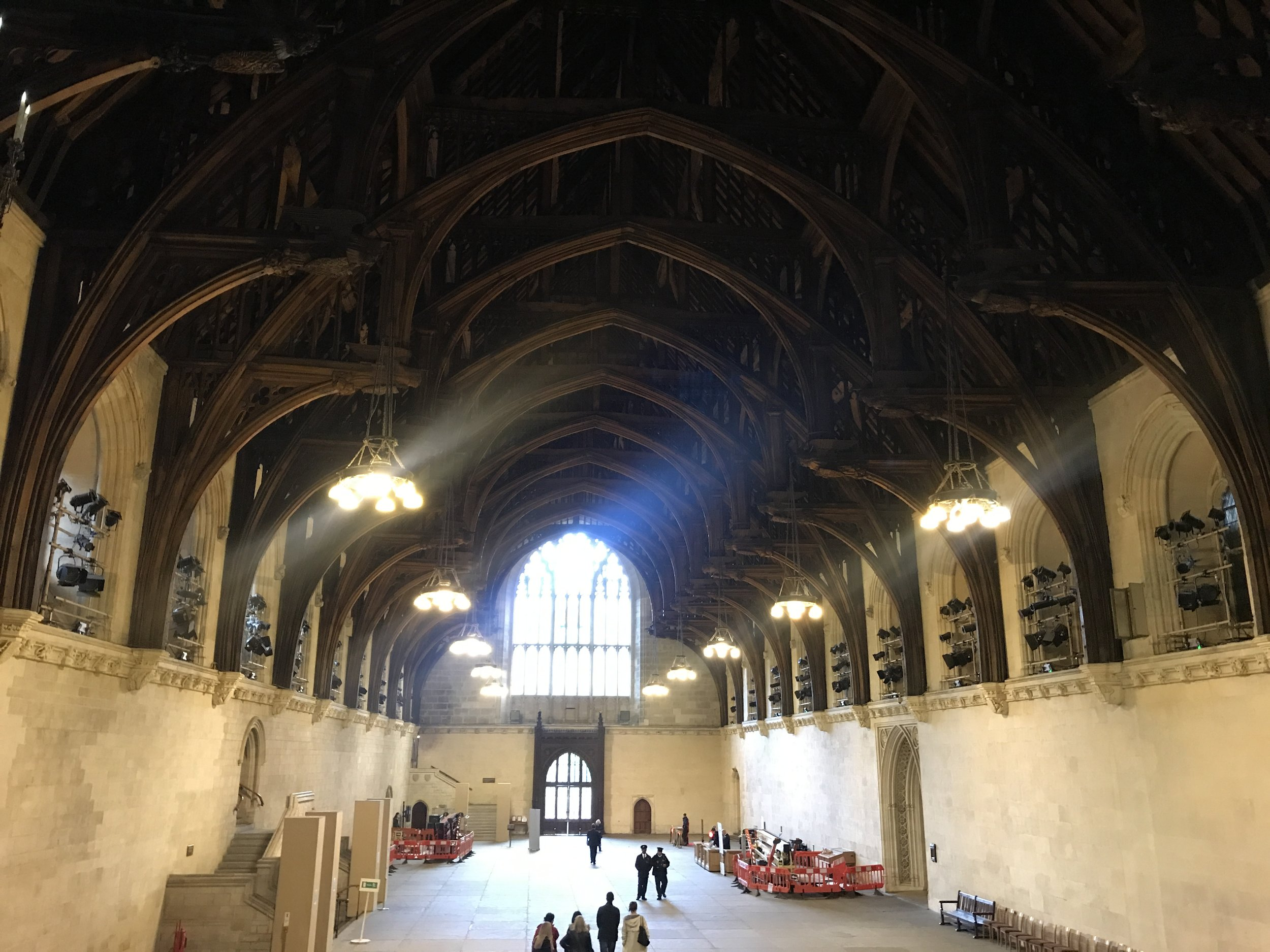 Westminster Hall is 900 years old. It was thought the the roof must have been supported by columns but no evidence has been found of these.