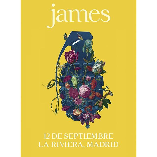 Una de las bandas más longevas y queridas de la escena indie-pop del Reino Unido nos visitará en septiembre. Lujazo tener a James en Madrid (La Riviera) 🙌🙌 . . *entradas a la venta: 26/06 a las 10:00h. en  @livenationesp @ticketmasteres y @elcorteingles . . @wearejames #james #madrid #lariviera