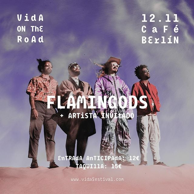 Sabemos que aún andáis con la resaca de @vidafestival pero es que HAY MÁS. Tenemos nuevo nombre en #VidaOnTheRoad y no nos puede emocionar más: Flamingods 💥💥 . 📅 12 noviembre . 🌎 Café Berlin (Madrid) . 🎟 Entradas ya a la venta en @ticketmasteres . . #vidafestival #cafeberlin #madrid @cafeberlinmadrid @flamingodsmusic #flamingods