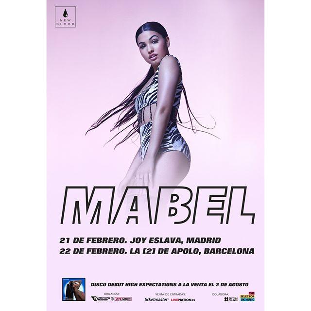 ¡BOOOOMMM! 💥💥 Mabel nos visitará en febrero. . 📆 21/02 Joy Eslava . 📆 22/02 La 2 de Sala Apolo . *Preventa Spotify: miércoles, 24 julio. 10:00h. . **Preventa Live Nation: jueves, 25 julio. 10:00h. . ***Venta general: viernes, 26 julio, 10:00h. en @livenationesp,  @ticketmasteres y Red Ticketmaster (FNAC + Halcón Viajes). . . #mabel @mabel #Madrid #Barcelona #joyeslava #spotify #apolo @sala_apolo . Un concierto que te trae @newblood_music y @britishmusic_