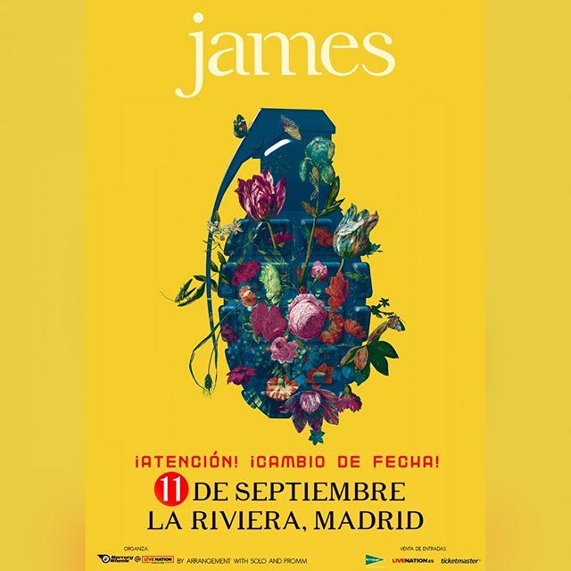 Lamentamos comunicar que por problemas logísticos el concierto de James en La Riviera debe adelantarse al 11 de septiembre. Las entradas ya adquiridas serán válidas para la nueva fecha. Si no puedes acudir, contacta con el canal de venta o con atencionalcliente@livenation.es . . . @wearejames #james #madrid #lariviera