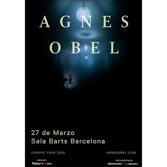 La pianista, cantante y compositora @agnesobelofficial nos visitará en marzo. Apunta fechas si no quieres perdértela en @bartsbcn o en el @teatrolara con @sonestrellagalicia . 📅 26/03/20 Teatro Lara (Madrid) . . 📅 27/03/20 Sala Barts (Barcelona) . . *Entradas a la venta el 06/09 en @livenationesp , @ticketmasteres y #SONTickets ⚡