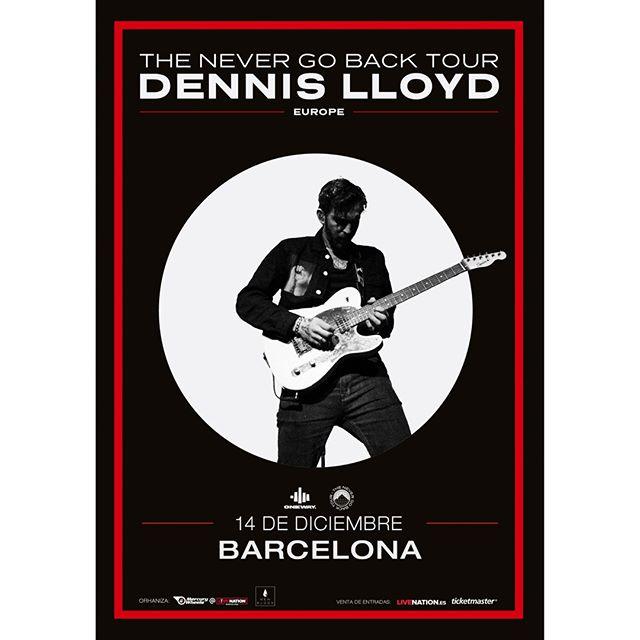 Septiembre viene cargado de NOTICIONES. Aquí una nueva confirmación: Dennis Lloyd estará el 14 de diciembre en Barcelona gracias al ciclo de conciertos New Blood. 🔥🔥 . ⚡03/09 Preventa Spotify . ⚡04/09 Preventa LIVE NATION ES y artista . ⚡06/09 Venta general en Live Nation y Ticketmaster España