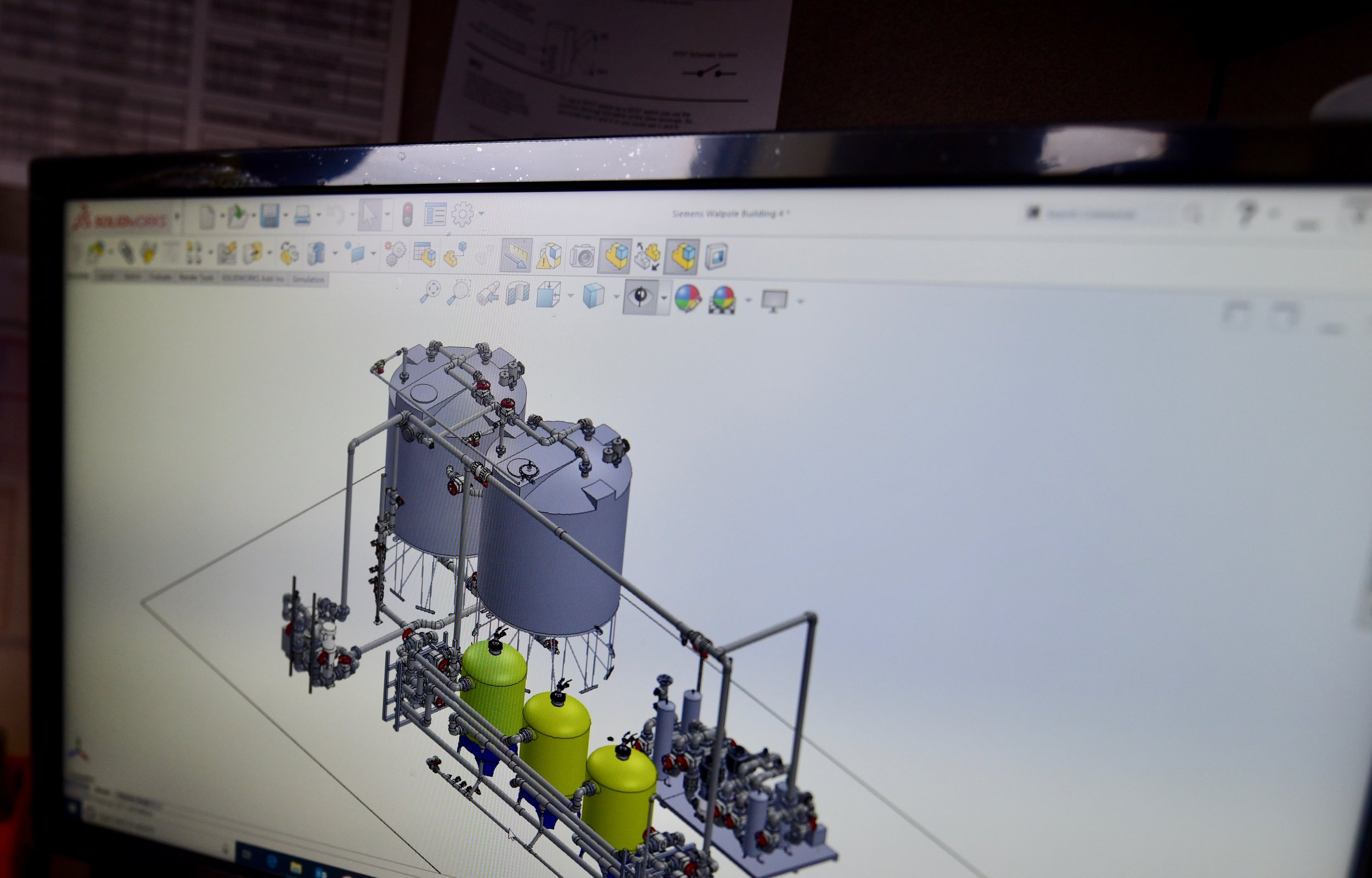 We start with 3D designs in SolidWorks - Designed by our expert engineering staff, installed by our professional team of licensed plumbers and techniciansBacked by over 25 years of RODI high purity water manufacturing experience