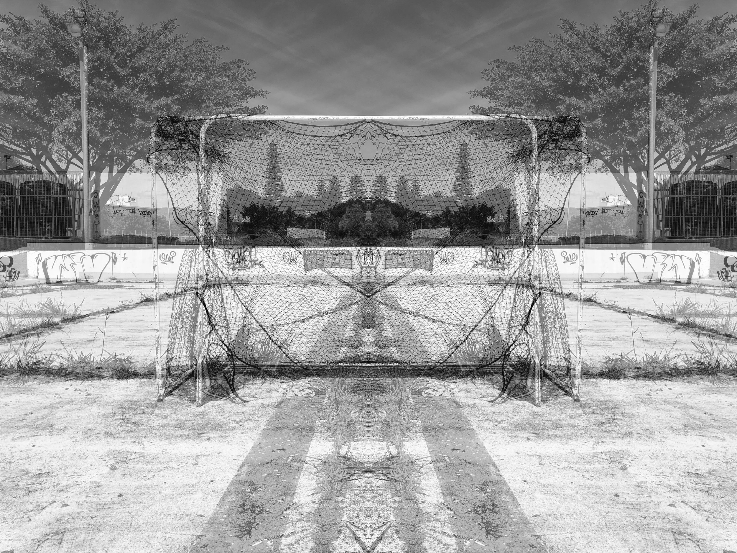 Playground , Rosebank, 2019  Series:  A Foreign Land   Silver print Dibond  300 x 400mm  Edition 3 + 1 AP  Signed, dated and numbered in lower margin; artist's stamp on verso  © Alastair Whitton  Acquisitions / enquiries: gallery@barnardgallery.com