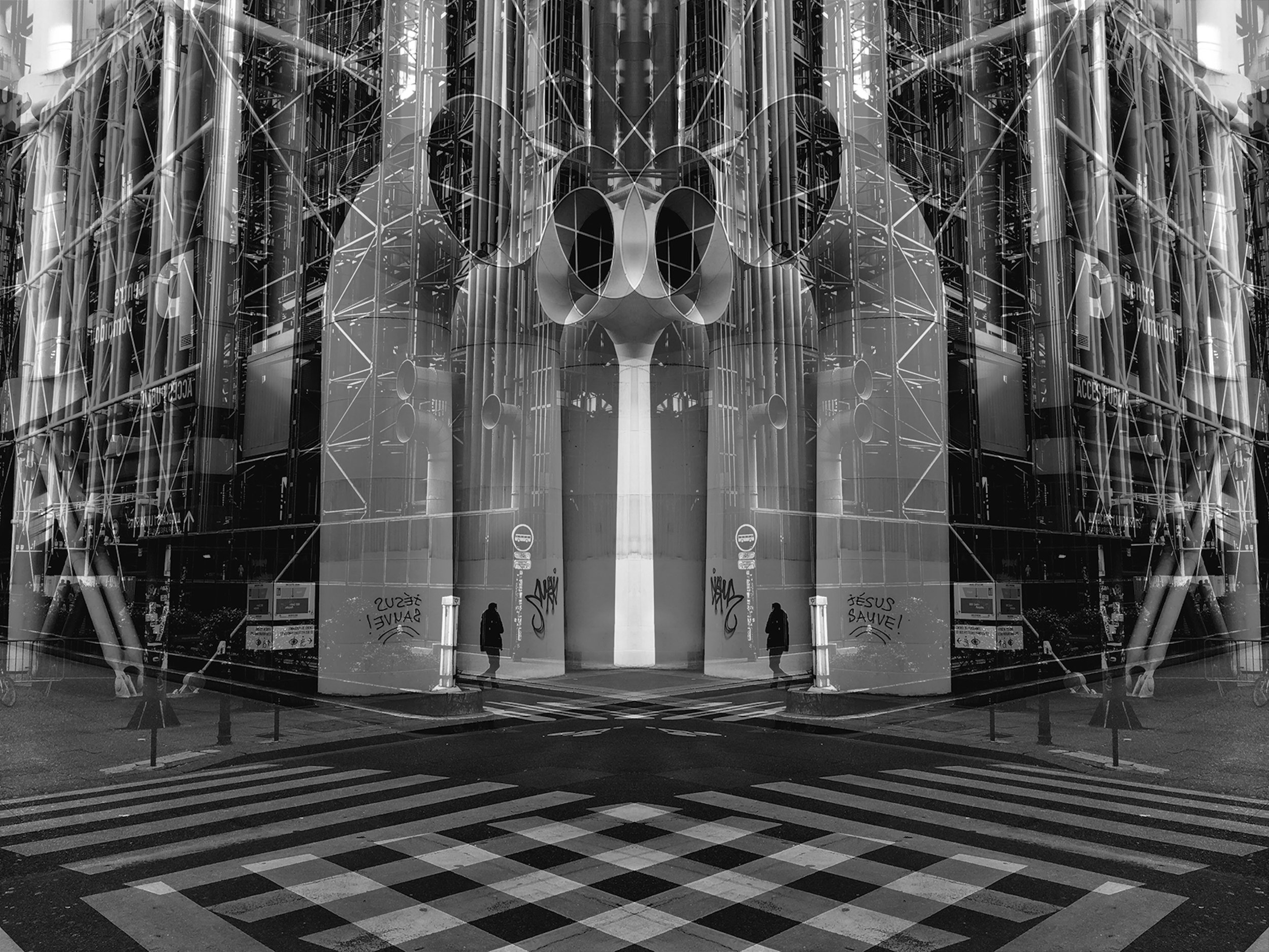 Crossroads , Paris, 2018  Series:  Metropolis - LDN / PAR / NYC   Silver print Dibond  360 x 480mm (image)  Edition: 3 + 1 AP  Signed, dated and numbered on verso  © Alastair Whitton  Acquisitions / enquiries: gallery@barnardgallery.com
