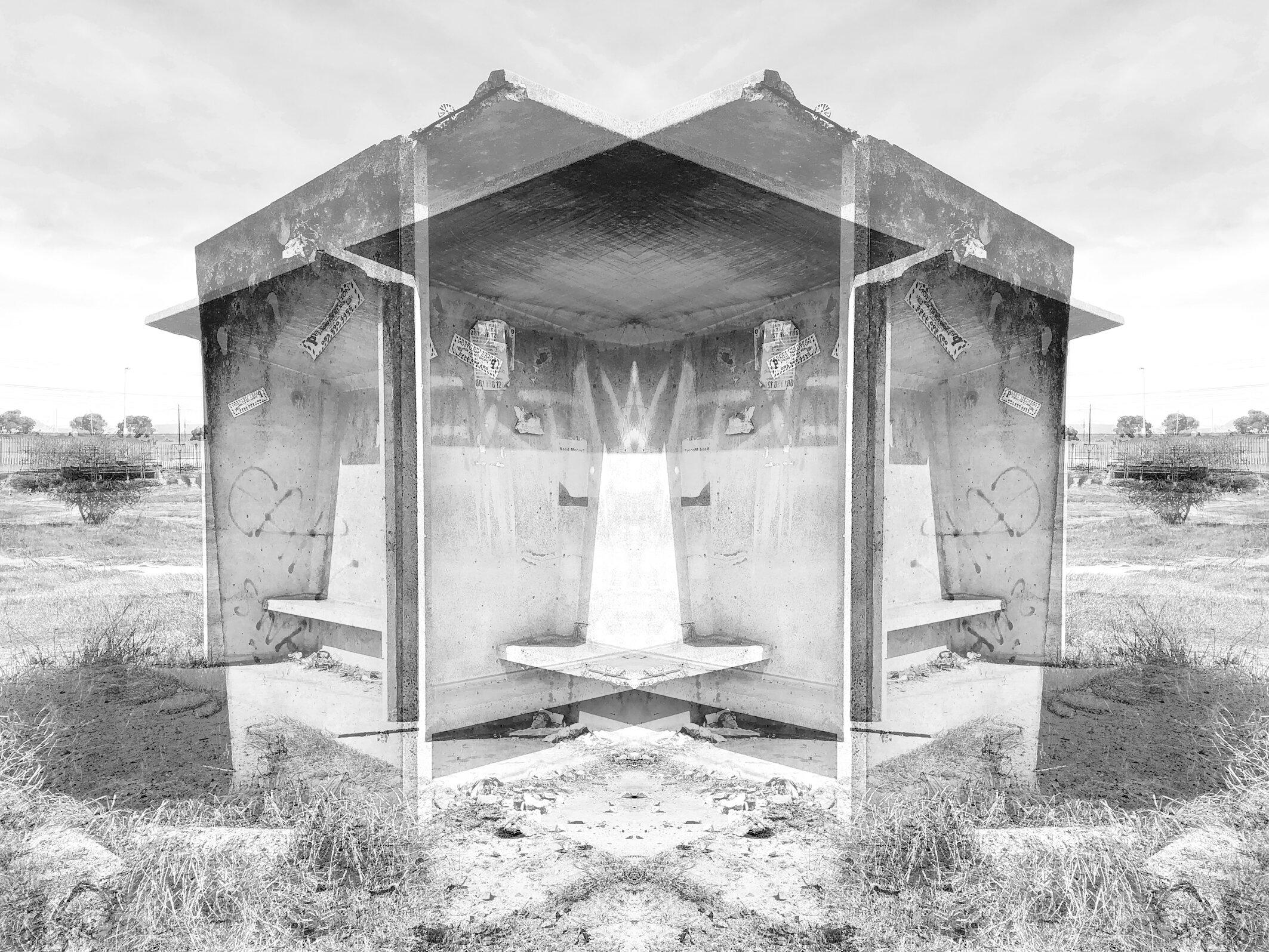 Bus shelter, Bonteheuwel, 2019  © Alastair Whitton