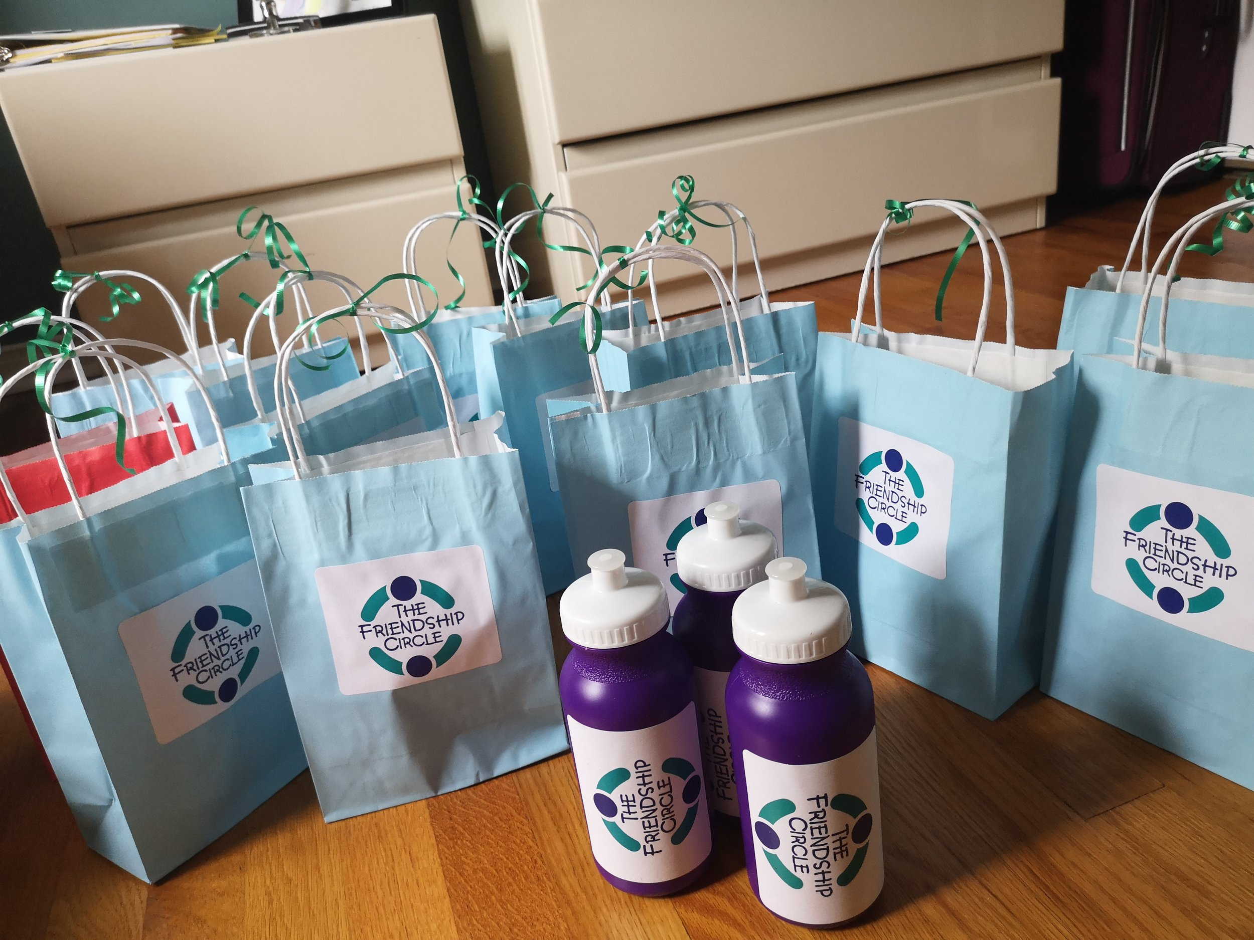 Friendship Circle gifts for the amazing volunteers that attended our summer training session!