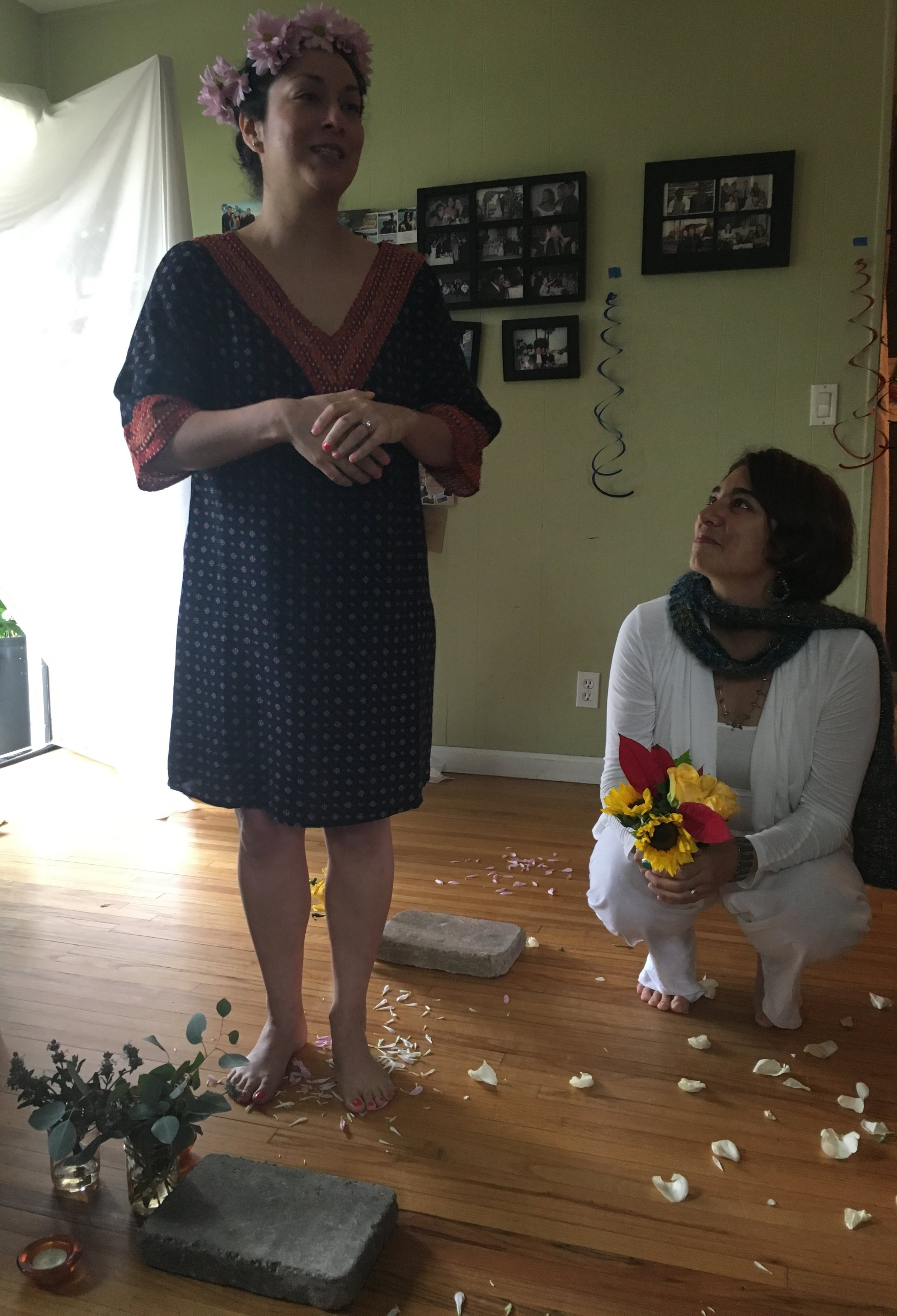 """Bridal Blessing - """"2018 was such a special year. My loving partner and I got a chance to exchange personal vows and make a lifelong commitment to each other in front of our """"tribe."""" As a special gift from my sister, I had the chance to preface my wedding day with a custom blessing circle alongside all the strong women in my family. Magdalena led us through a journey of life as specially connected women, openly celebrating one milestone (my milestone), together. It was the best gift I could have received. Better than any shower anyone could have thrown. Magdalena is a powerful facilitator of meaningful connection. She is creative and giving of her unique talent to get you to experience the energy around you. I am so grateful to have had that special moment with her and my family."""" - Victoria"""