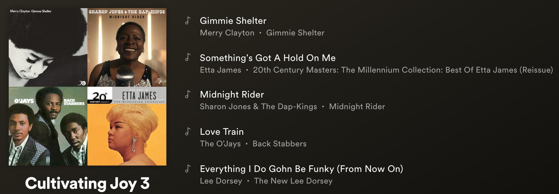 Cultivating Joy Playlist 3 - Click here for Spotify Playlist