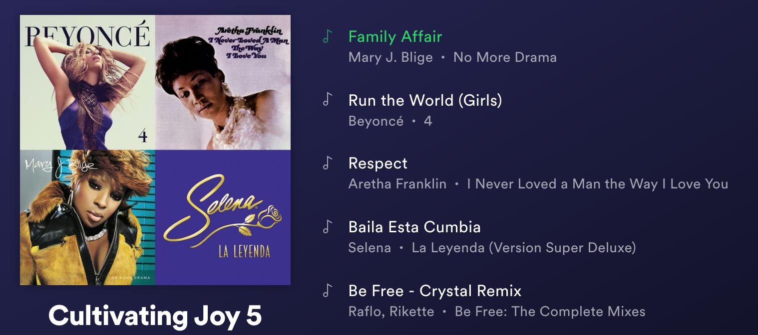 Cultivating Joy Playlist 5 - Click here for Spotify Playlist