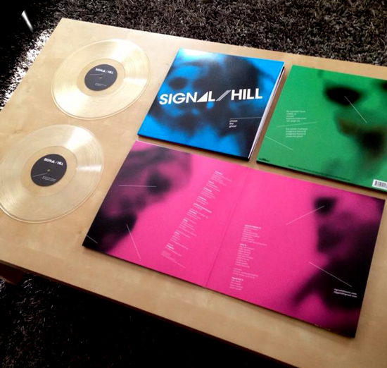 LP package featuring clear records