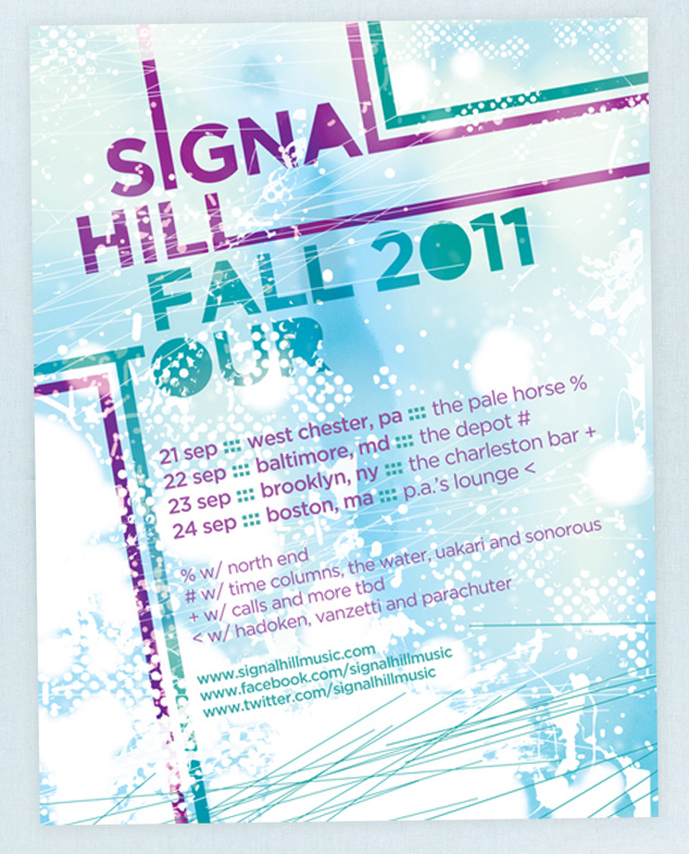 Signal Hill Fall 2011 Tour poster