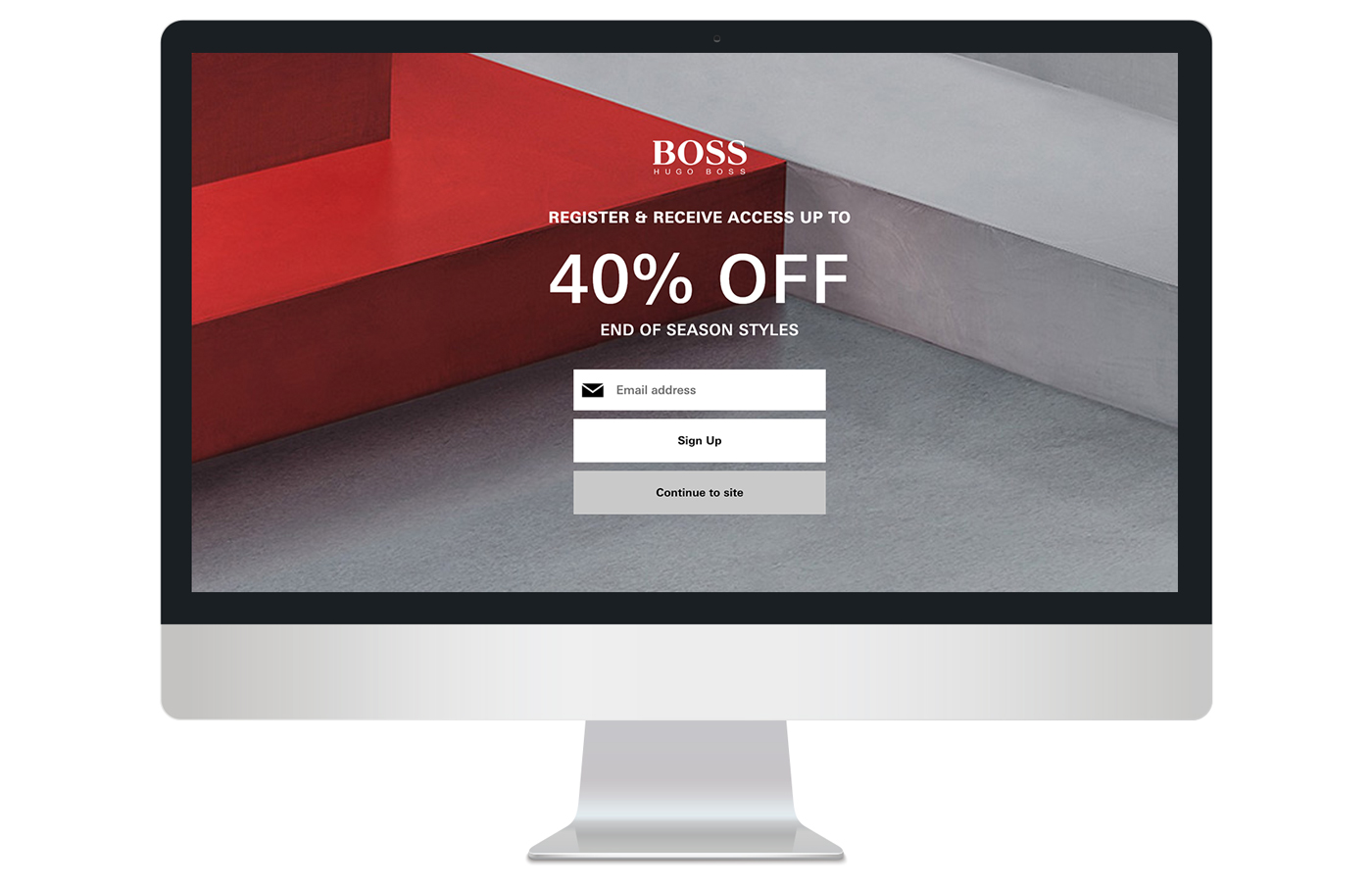 Full screen canvas promo echo overlay on desktop