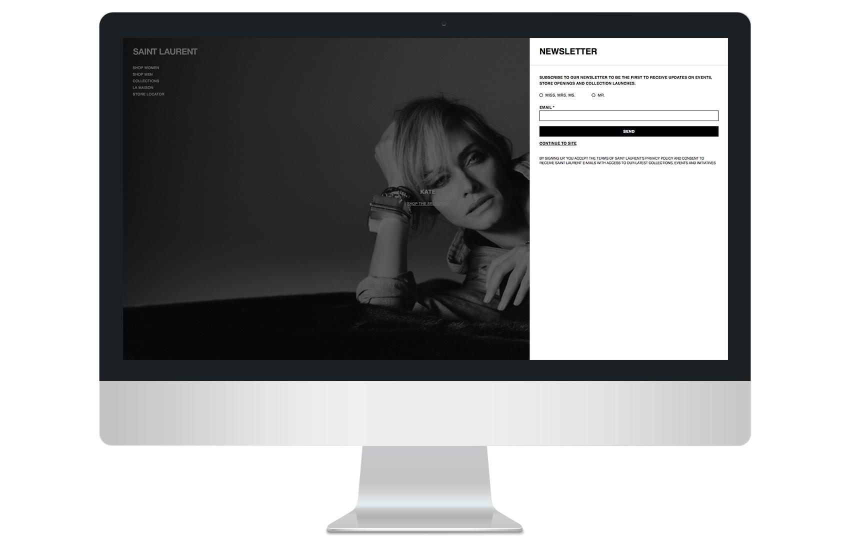 On entrance email capture side tab