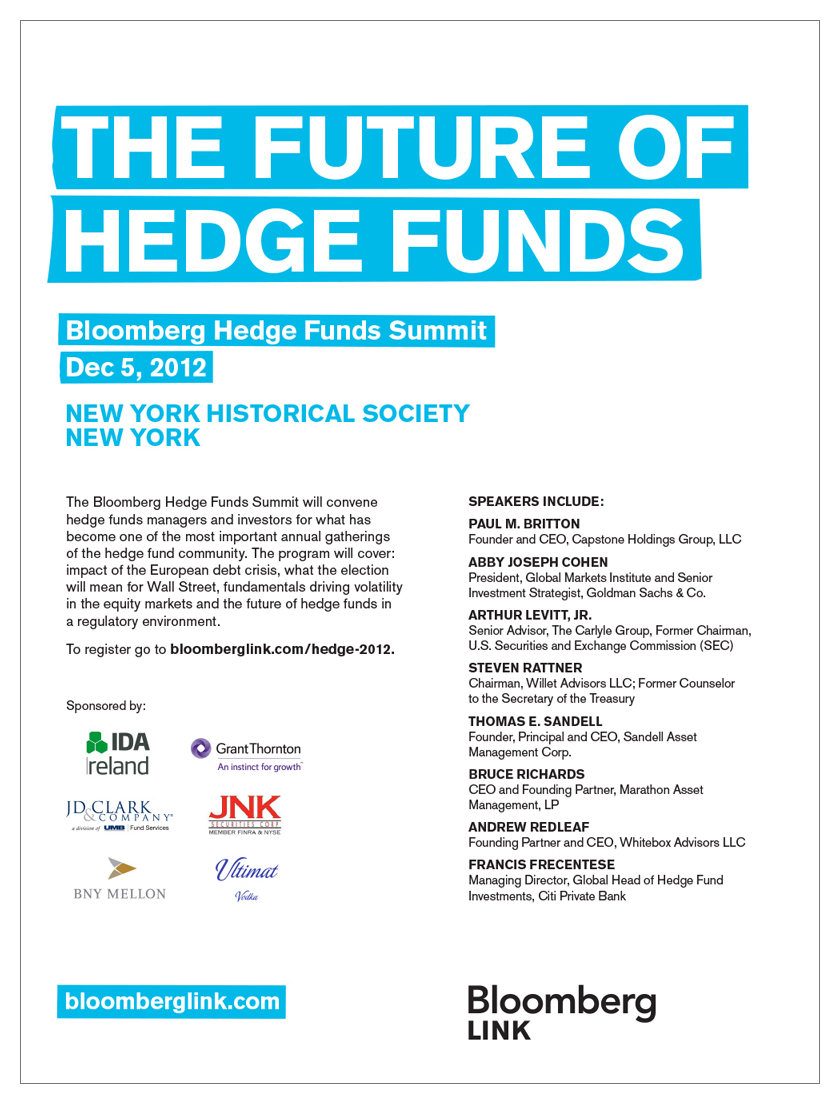 1-page Bloomberg Link conference ad appearing in Bloomberg Businessweek