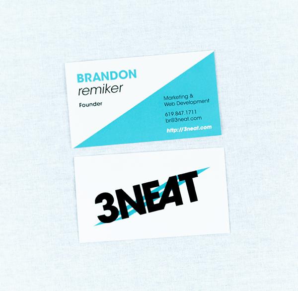 3NEAT - logo + business card design