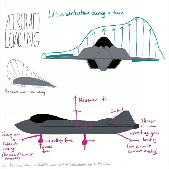 Armed with knowledge of stress and strain two weeks ago, let's look at loadings on an airplane. #science #aerospaceengineering #technology #artofscience #aerodynamics #airplane #nerdygirl