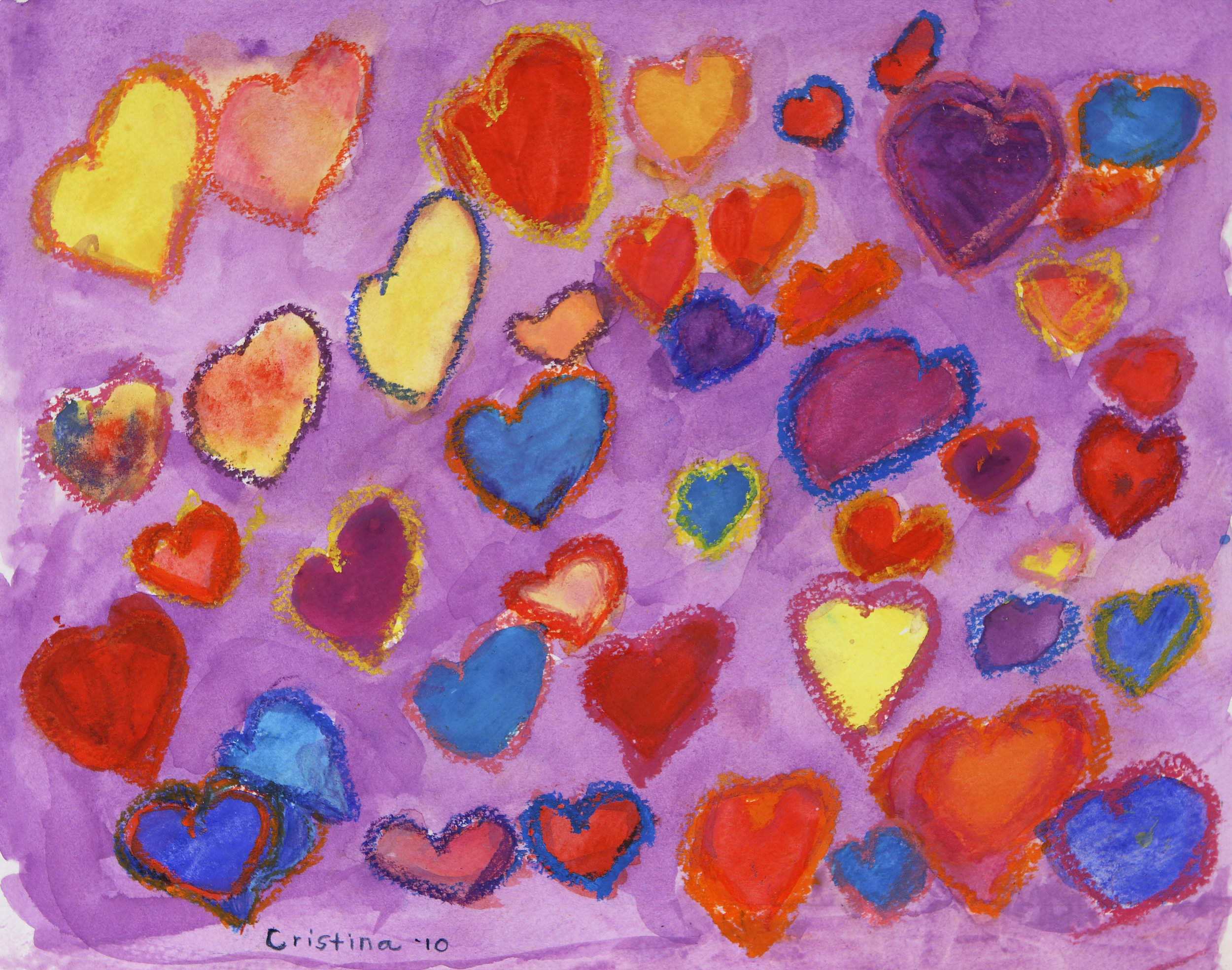 The 'Sweet' Hearts (purple)