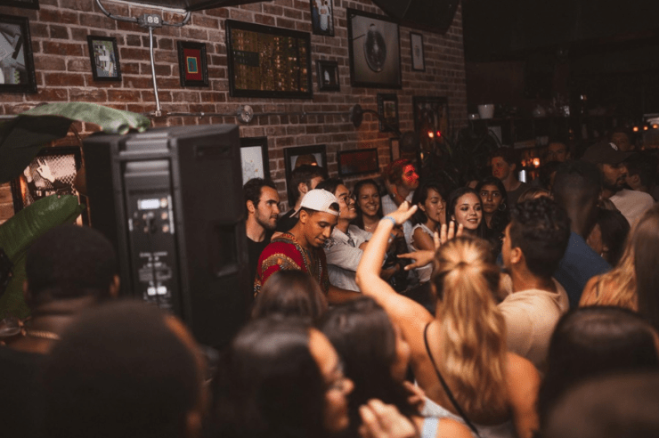 ABDOU Mouflet DJing at KAJ's last event at Apartment 200