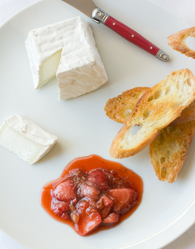 Strawberry & Rhubarb Compote - LOVES seasonal spring cheeses