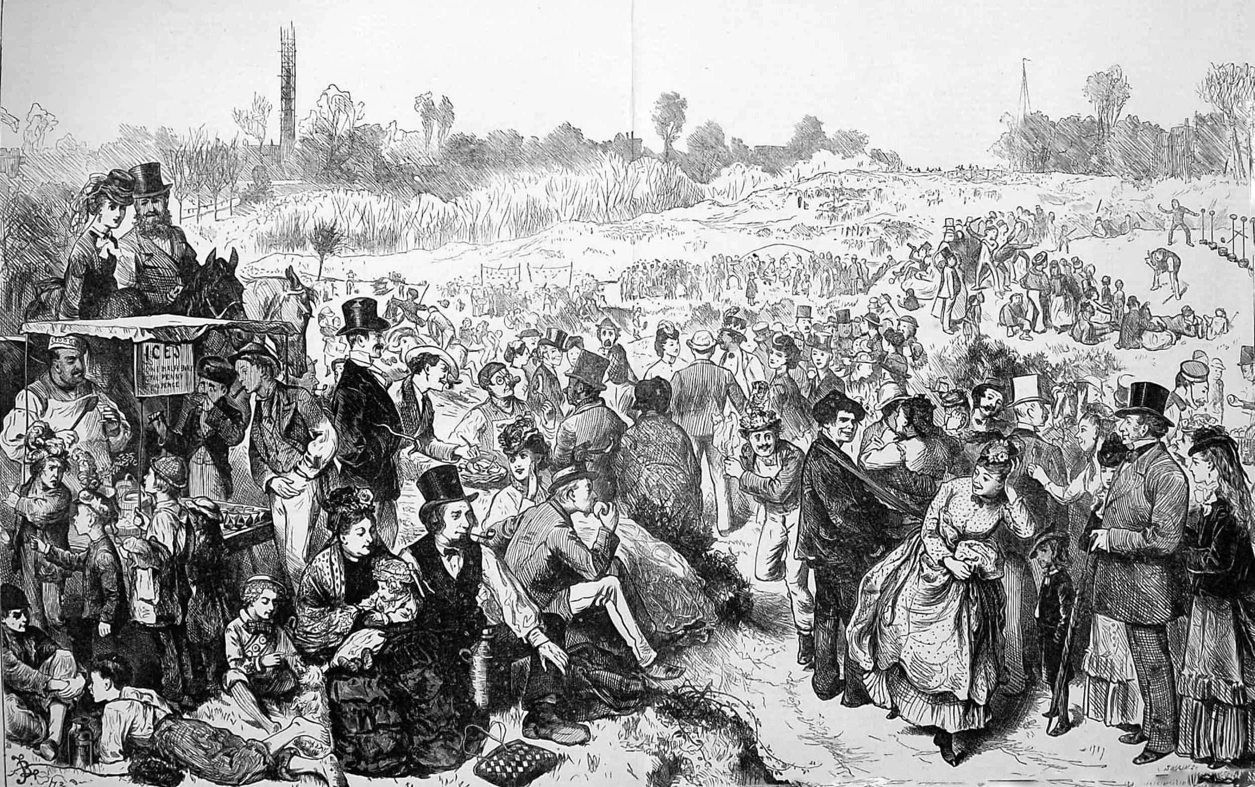 Ice creams at the Hampstead Heath fair, 1872