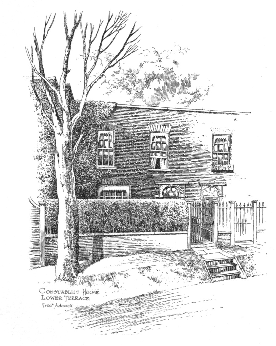 Constable's House in Lower Terrance, sketched in 1909