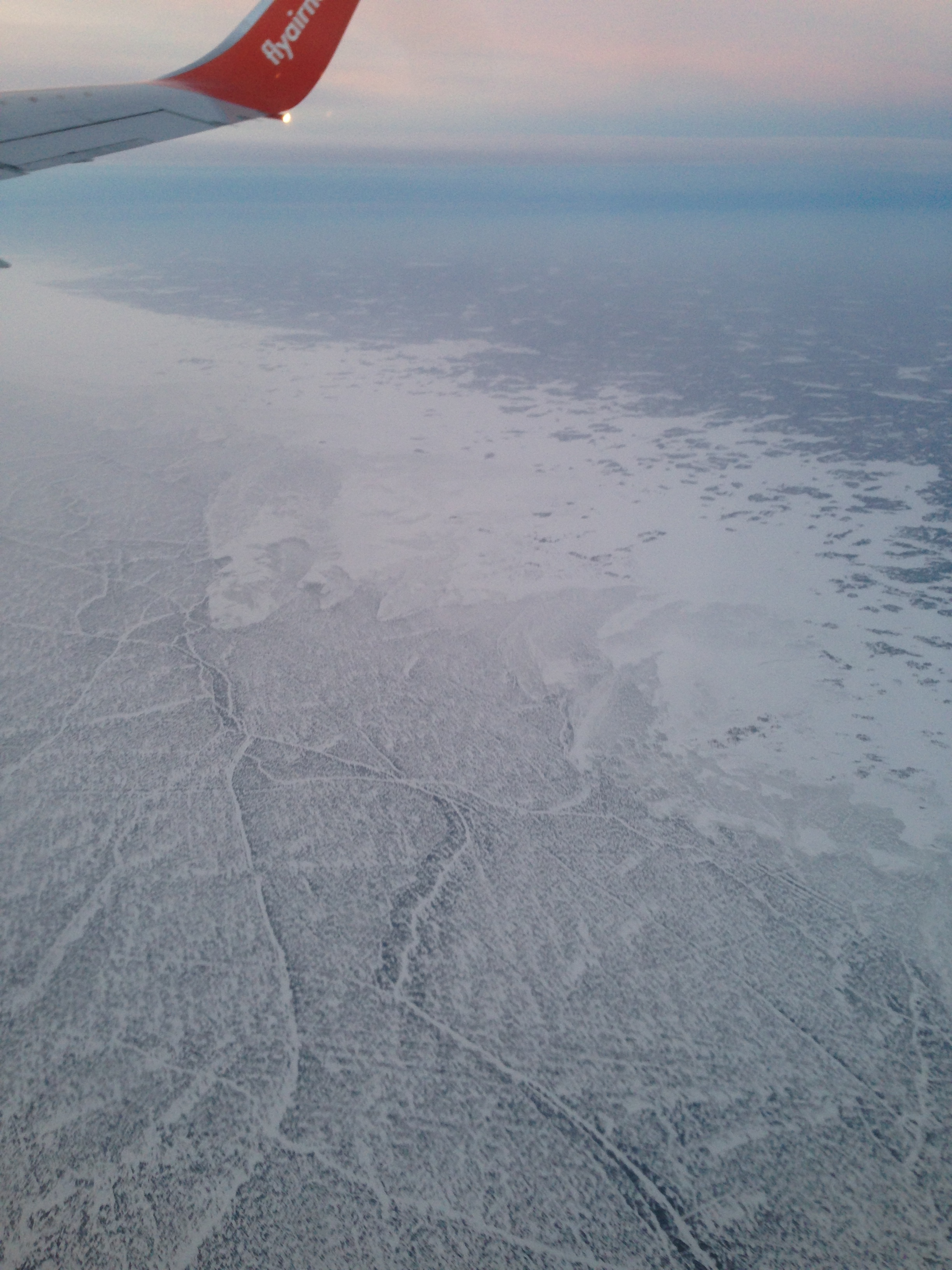 Great Slave Lake from Air Jan 2 - Air North Flight .JPG