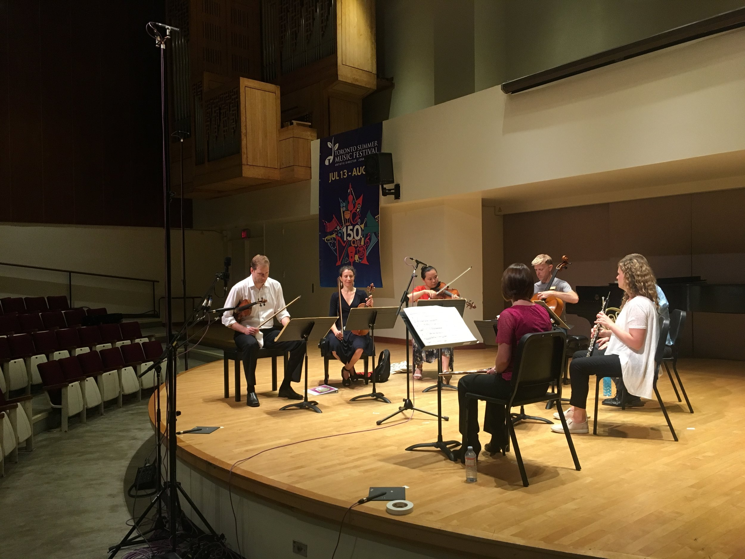 TSO Chamber Soloists premiere - soundcheck.JPG