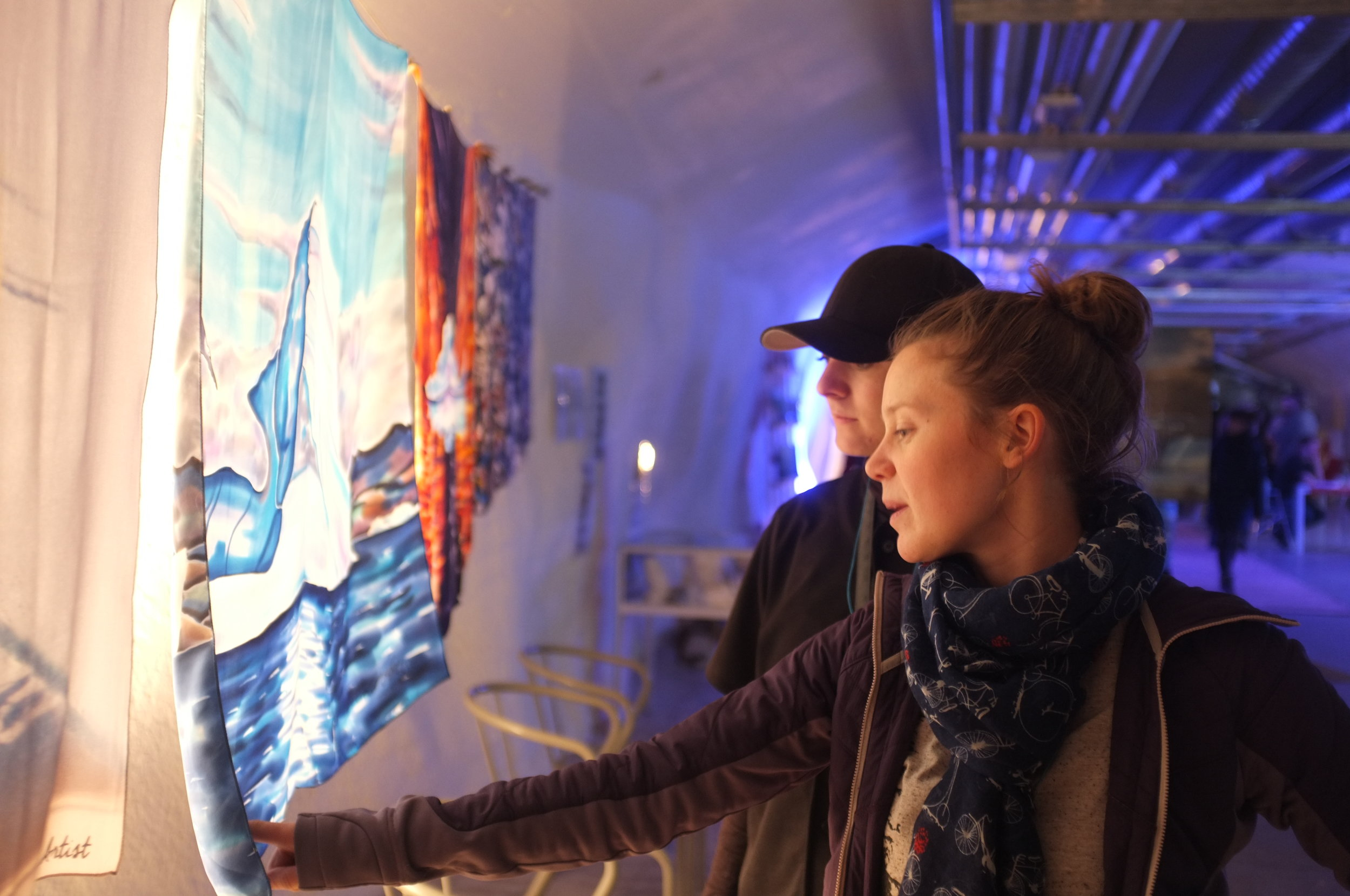 Helsinki - Hailey and Meghann at Vapaan Taian Tilla 3.JPG