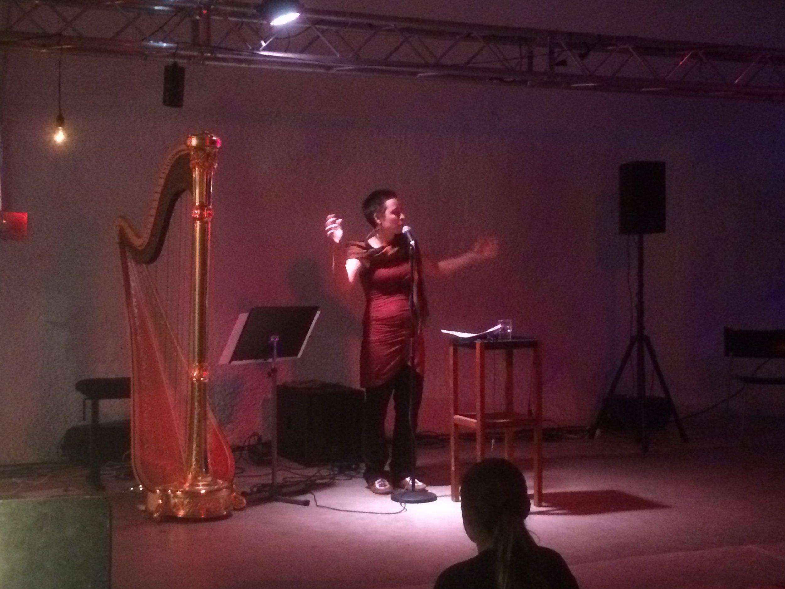 Helsinki - Small Sound performance - Carmen Braden Vapaan Taian Tilla 10.JPG