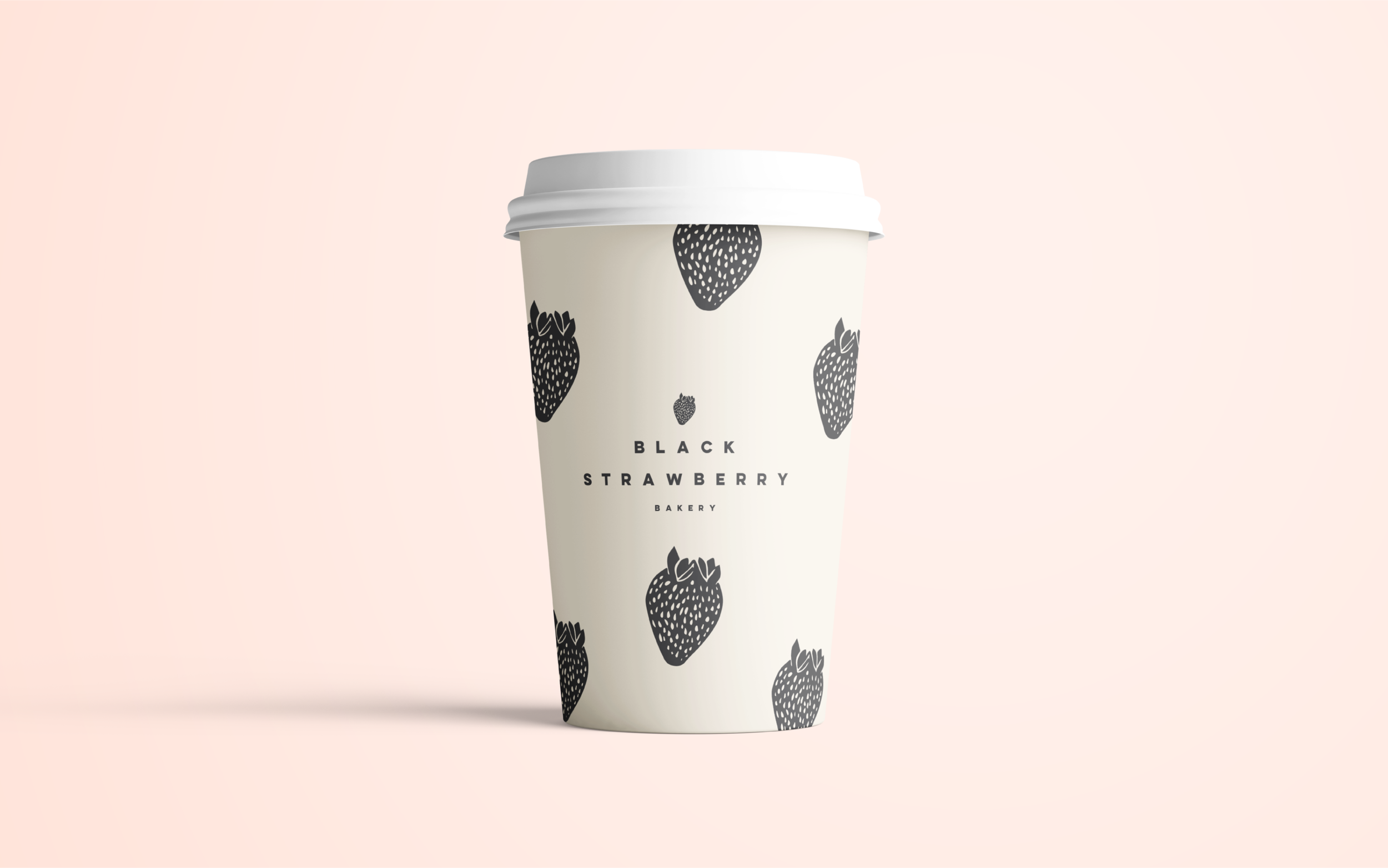 Black Strawberry Hot Cup