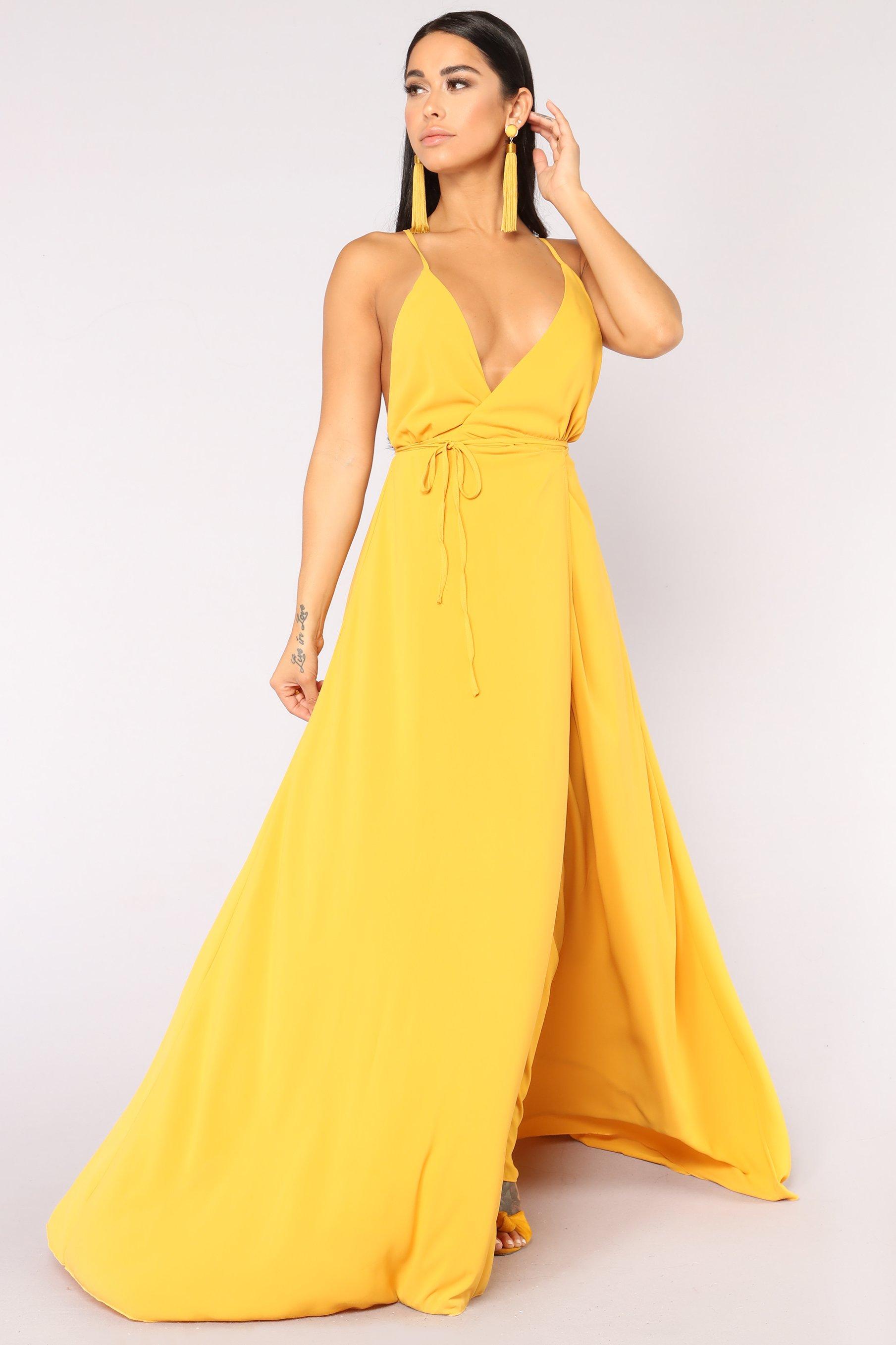 Lizbeth Dress - Mustard $49.99 USD