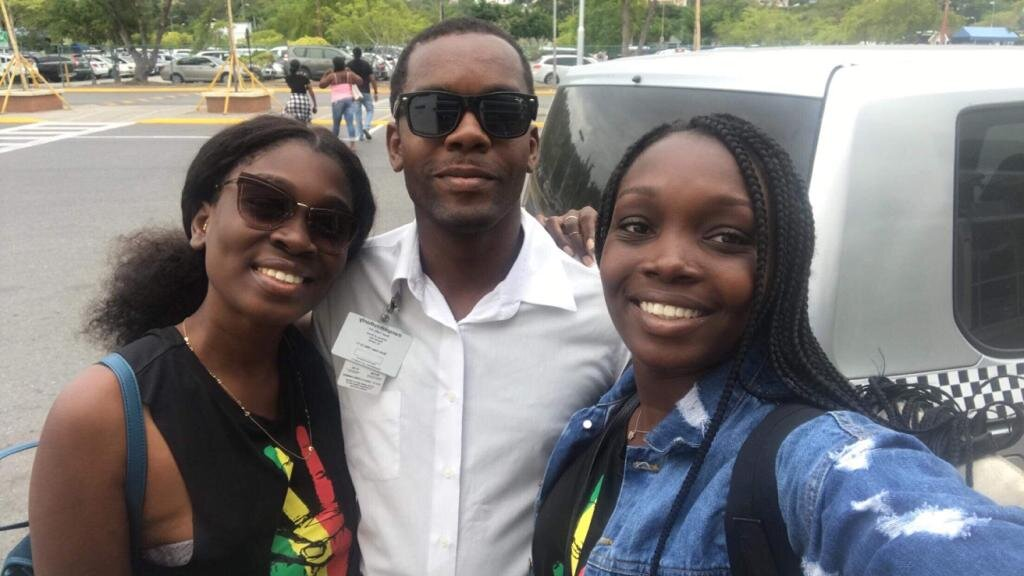 Errol dropping us (my sister and I) off at MBJ after an amazing time in Jamaica!