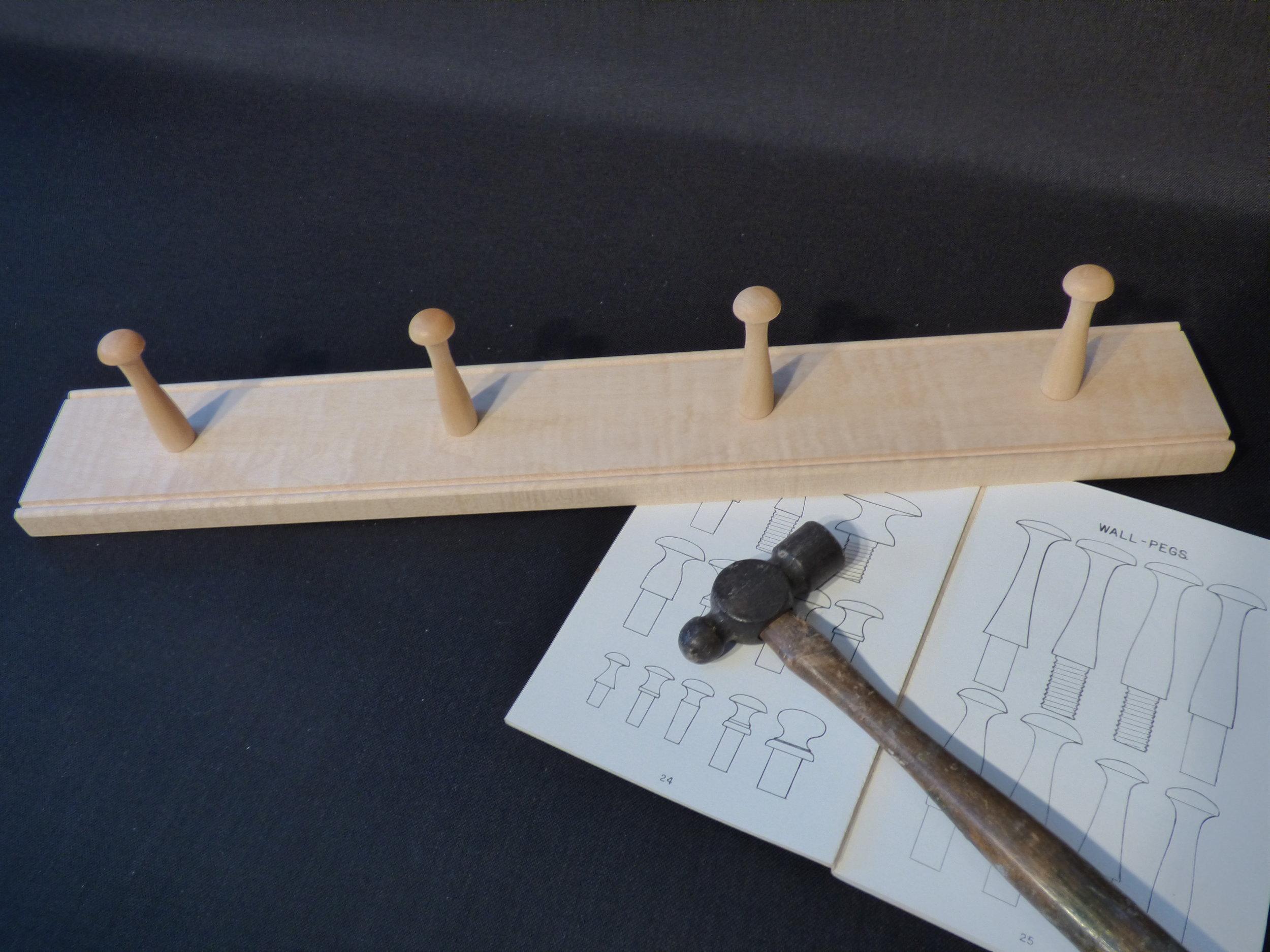 2' maple rail