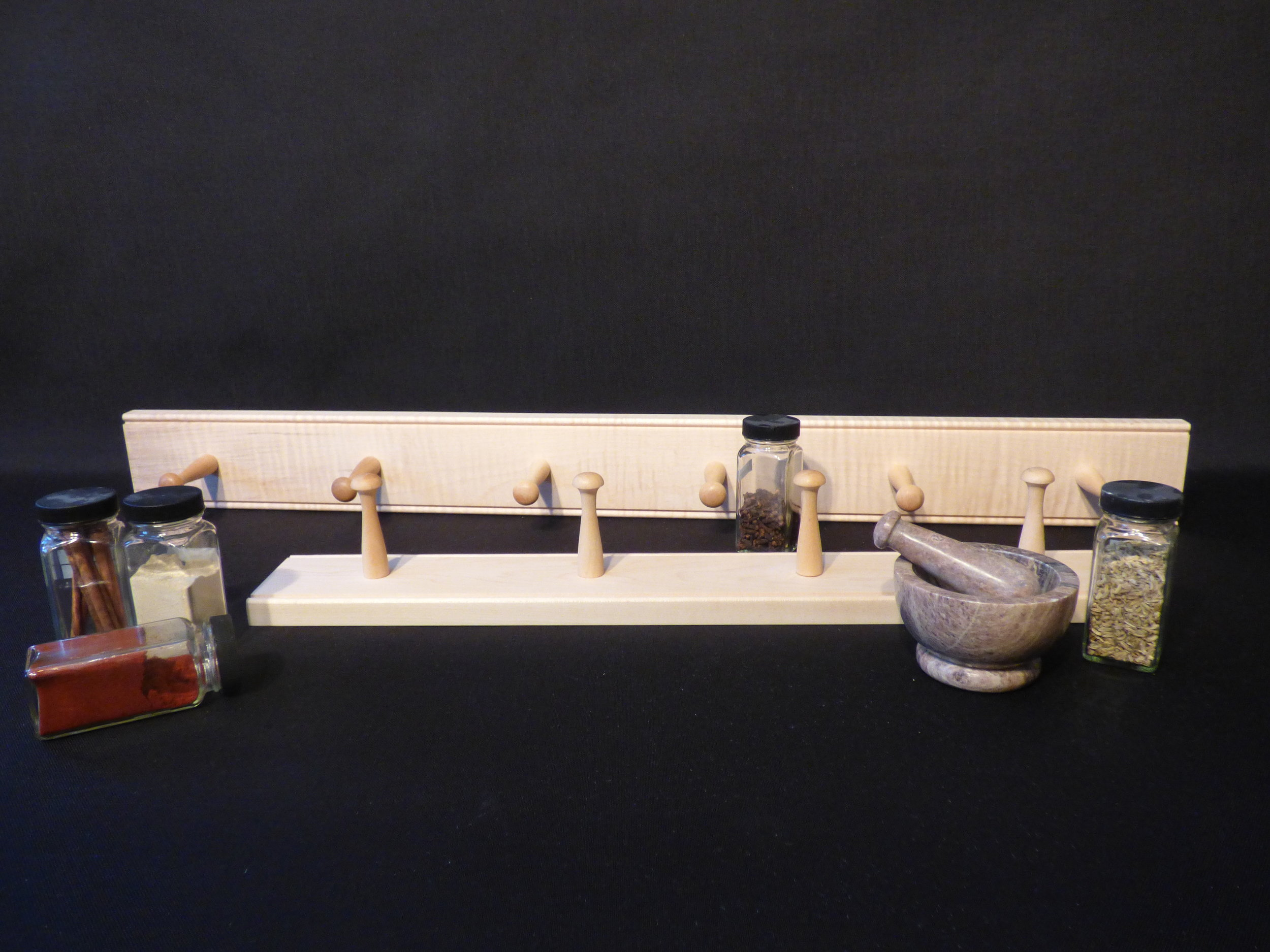 2' and 3' maple rails