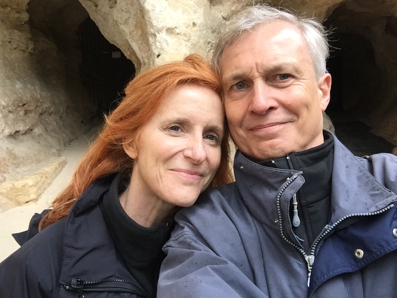 Erik and I visiting the Font de Gaume caves in France