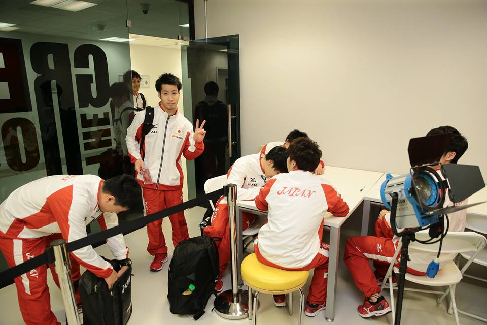 Team Japan in Baku earlier this week. Photo: Azerbaijan Gymnastics Federation.