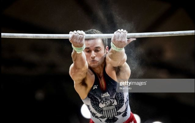 Sam Mikulak of the USA.