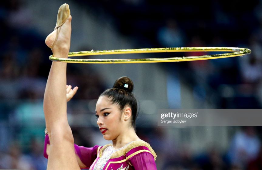 A year after becoming the first Italian woman in a generation to win an individual medal at Rhythmic Worlds, Italy's Alexandra Agiurgiuculese has continued to write history for her country.