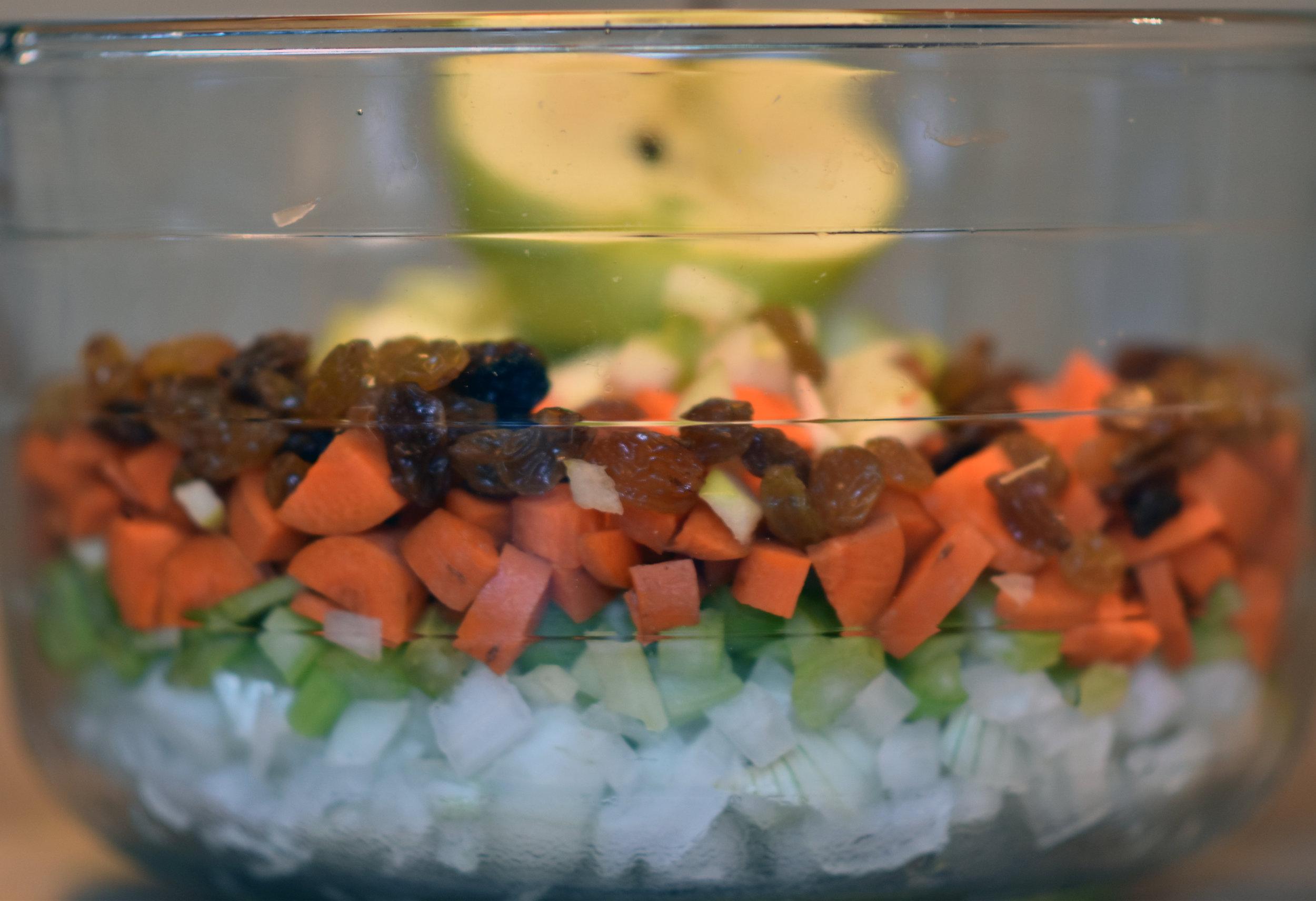 diced fruit & veggies - because yum