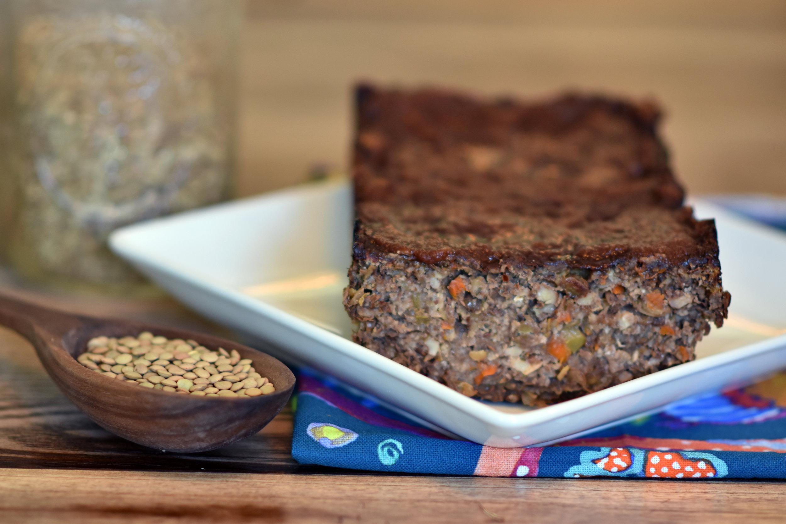 balsamic glazed lentil loaf - the antithesis to your mother's meatloaf