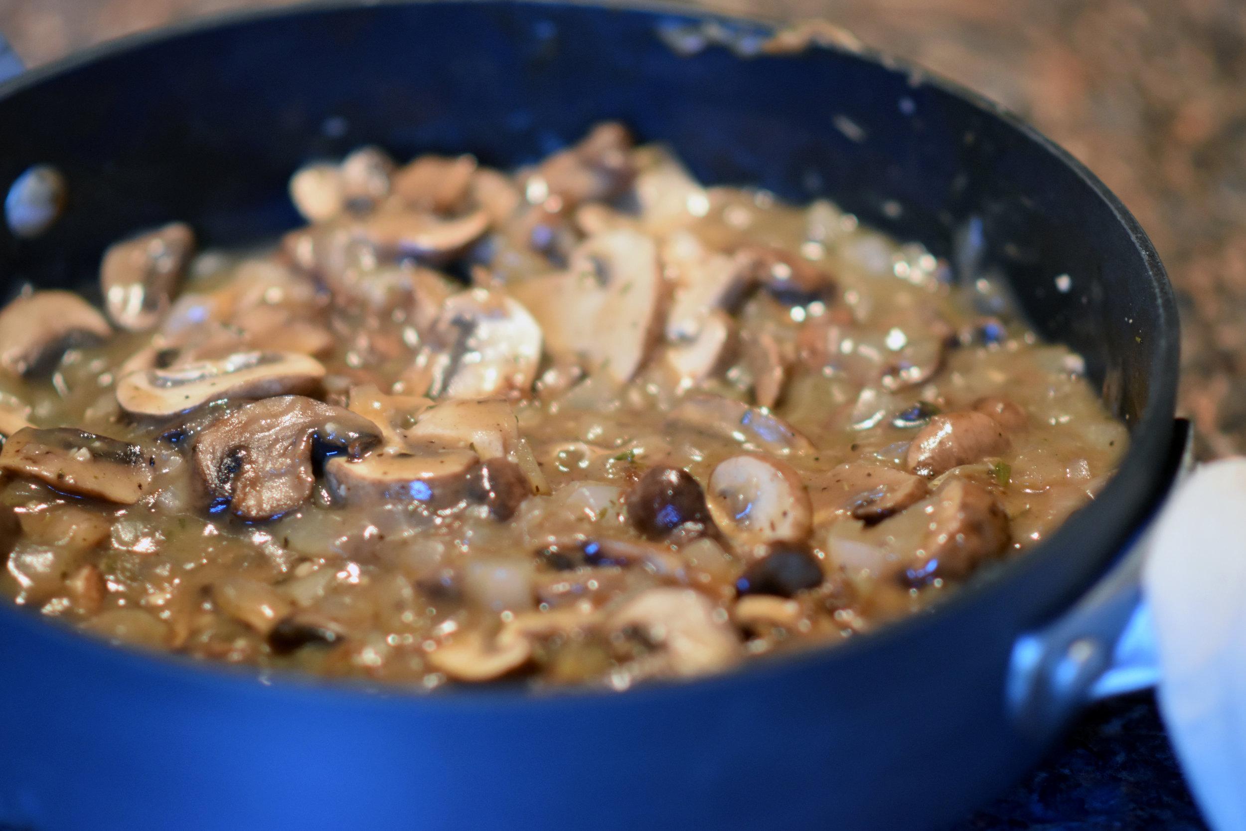 good vegan gravy - instead of sour cream for this not-really-stroganoff