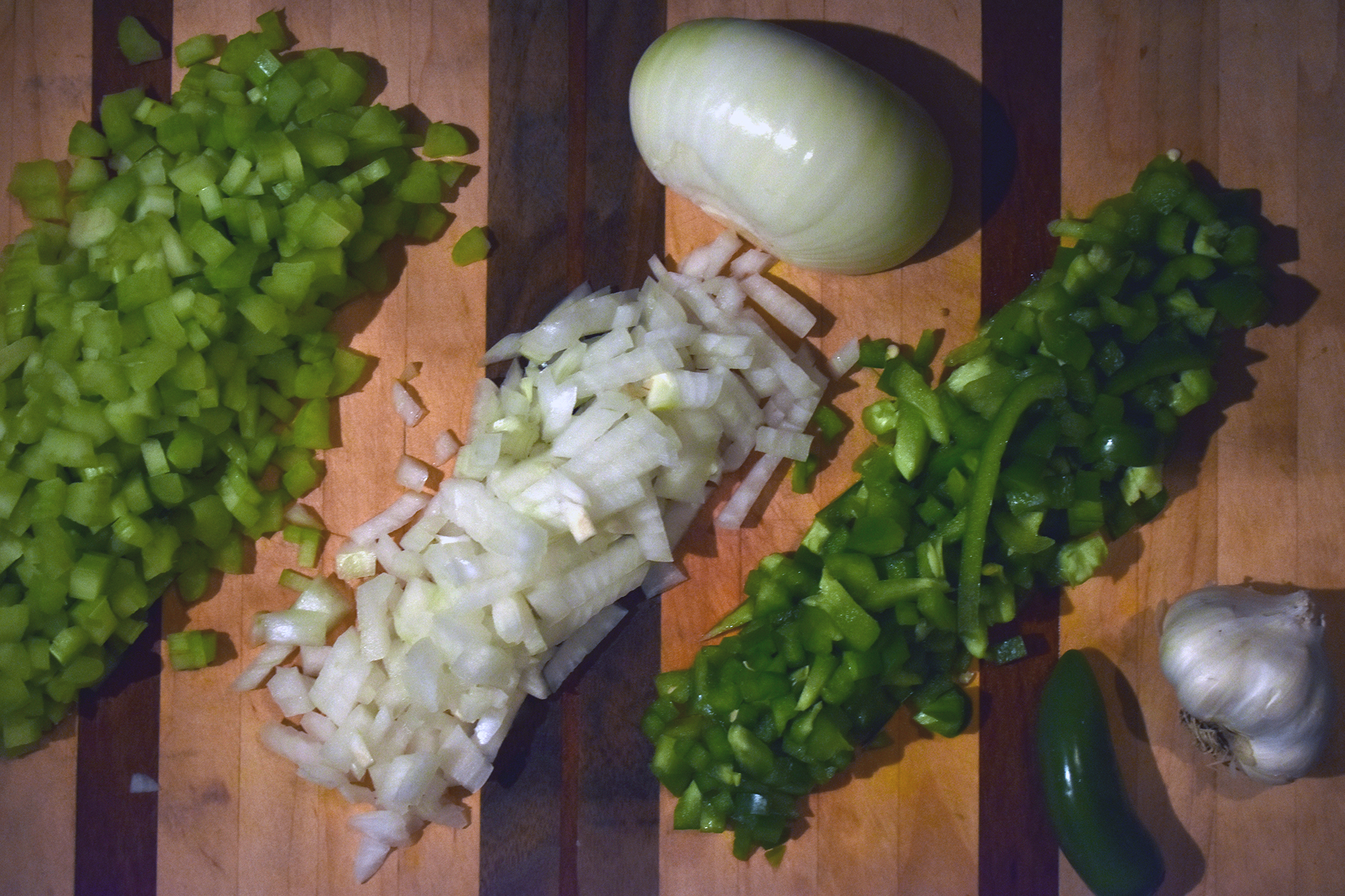 rows of veggies - because YUM!